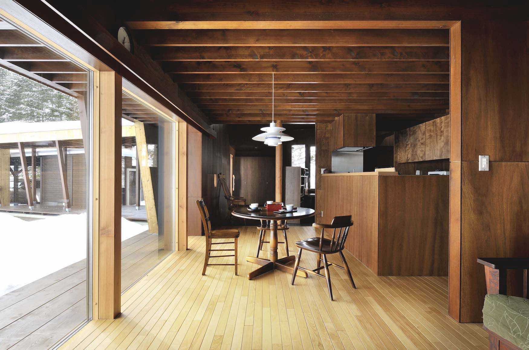 丘の家/北海道のリビング【照井康穂建築設計事務所】
