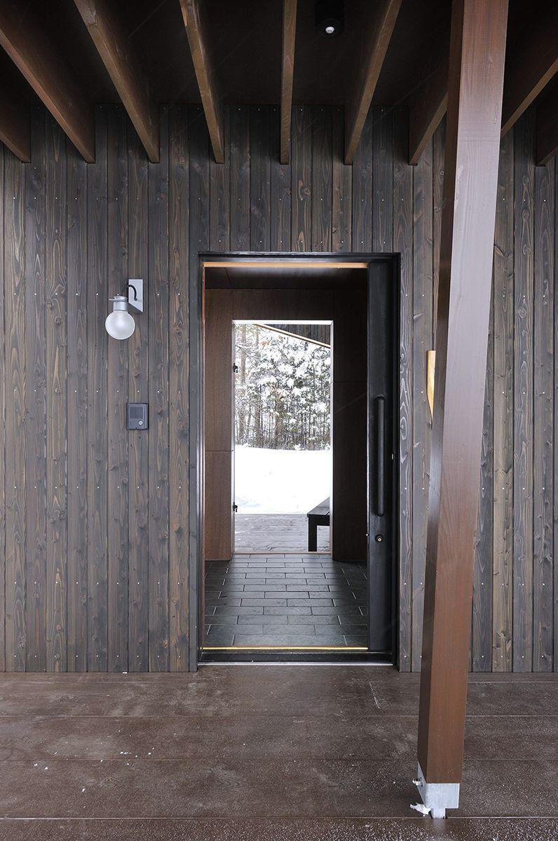 丘の家/冬の玄関【照井康穂建築設計事務所】